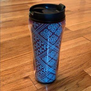 Vera Bradley Cuban Tiles tumbler travel mug -NEW